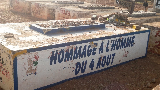La tombe du président Thomas Sankara, le 12 octobre 2013 (Ph : Burkina 24)
